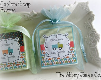 Personalized Soap Favors, Truck party, Baby Boy Shower Favors, Shower Favors set of 10