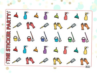 Cleaning and Chores Planner Stickers