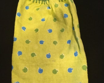 Tiny Apples Single Sided Kitchen Hand Towel Lime Green 1