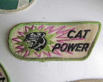 60s 70s Vintage Arctic Cat Patch Vintage Arctic Cat Snowmobile Patches Arctic Cat Green and Purple