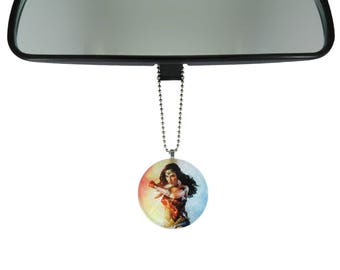 Wonder Woman Gal Godot rearview mirror ornament