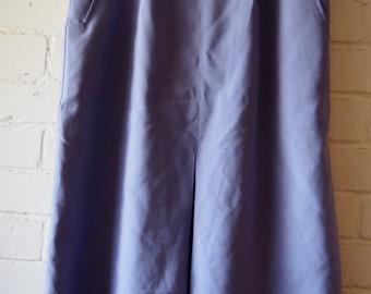 Purple 80s knee length skirt M-L