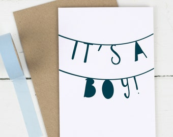 New Baby Card - It's A Boy - It's A Girl - Baby Boy Card - Baby Girl Card - New Baby Boy Card - New Baby Girl Card - Baby Card
