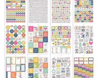 Carpe Diem Fitness Stickers Tablet 803/Pkg Simple Stories (8902)