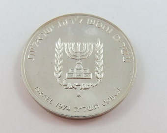 Israel 1974 Silver 25 Lirot Coin.Subject-1st Anniversary of death of David Ben Gurion.