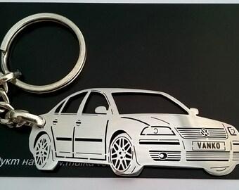 Volkswagen Keychain, Volkswagen Passat, fathers day gift, Volkswagen, VW Keychain, Personalized Keyring, Custom Keyring, birthday gift
