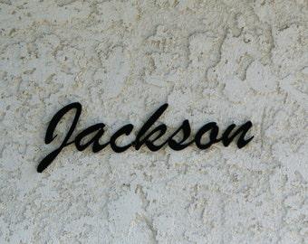Personalized Family Last Name Metal Sign - Custom metal name sign