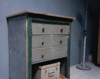 Old Work Bench Drawer cabinet