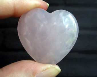 Rose Quartz Heart, Rose Quartz Crystal, Pink Heart, Reiki Healing Stone, Pink Polished Gemstone, Crystal Collector Gift, Mineral Stone Heart