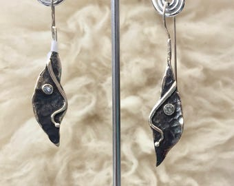 Sterling Silver modernist face earrings