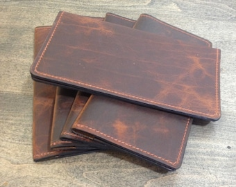 FREE SHIPPING !!! Bison Leather Checkbook Cover