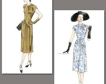 Vintage Vogue Dress Sewing Pattern - Sizes: 6 -8 -10, Vogue V2787 Design Original 1948 - A-line Dress, loose-fitting through bust and hip