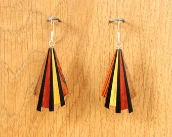 "Earrings ""Mwènẽn mwa wei"" - wooden jewelry"