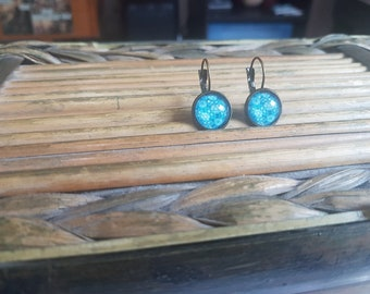 Turquoise 12mm cabochon Stud Earrings