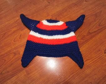 Crochet Houston Texans hat - Teen / Adult size