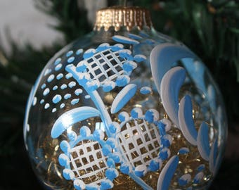 Personalized ball, clear glass, 8cm d, Alsace crafts