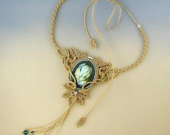 Nymeria ,  freeform macramè necklace tutorial step by step