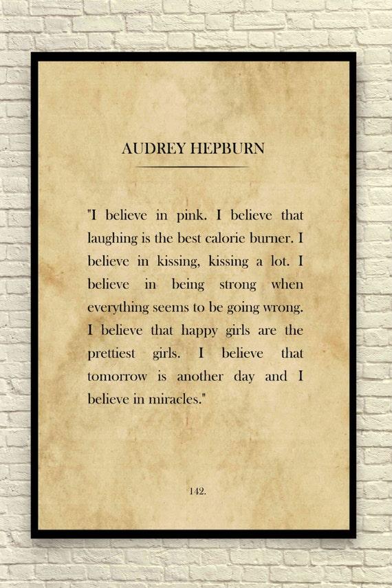 Audrey Hepburn Print Audrey Hepburn Quote Custom Art Print