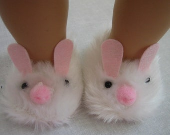 Accessories Made to fit  Bitty Baby Dolls Doll-Made to fit Bitty Baby and Bitty Twins, Easter Bunny Slippers Fit Bitty Baby and Bitty Twins