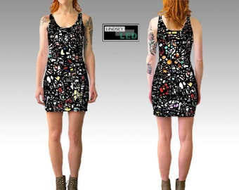 Assorted Shapes Fitted Dress