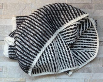 Cozy hand knitted infinity scarf