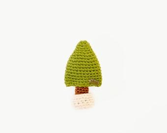 Brooch the Tiny Tree / the Crochet Pin/ Accressies.