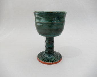 Wine Chalice - Pottery Goblet - Handmade Pottery - Wedding Kiddush Cup