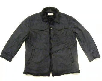 Kansai Jeans Black Suede Faux Fleece Jacket