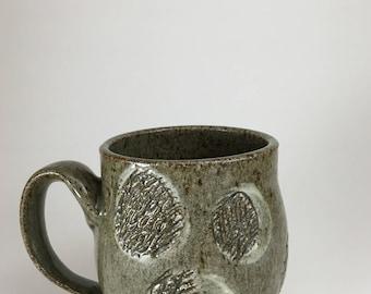 12oz Grey Scratch Mug