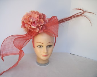 Shades of Peach Floral  Eye Catching n Evocative Headpiece
