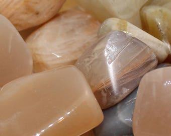 Pack of 5x Moonstone Tumblestones - Tumbled Moonstone - Healing Crystal