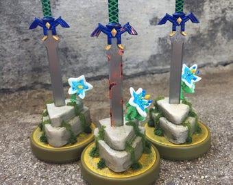 Legend of Zelda: Breath of The Wild - Mastersword custom amiibo