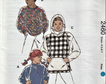 Kwik Sew 2460     Boy's and Girl's Pullover Knit Tops   Size 4-7 or Size 8-14    Uncut