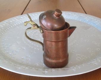 Vintage Coffee Pot Lid Rustic Kitchen Decor Copper Turkish Bonfire Pot Jesse Coffee Lover Gift