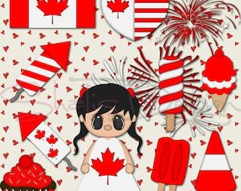 Canada Clipart DIY Canada  Clip Art Illustrations Instant Download