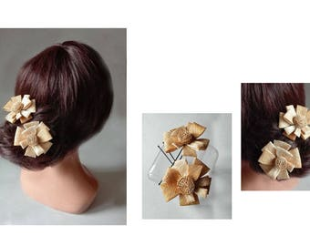 Hair comb flower, spade wedding Fascinator Hat ceremony minimalist barrette