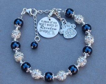 Rainbow Bridge Bracelet, Pet Remembrance, Loss of Dog, Pet Memorial Jewelry, Pet Grief, Sympathy Gift