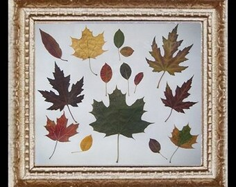 The Leaves of Fall Miniature Dollhouse Art Picture 6759