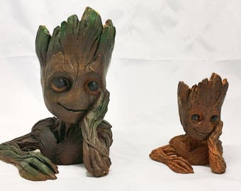 Baby Groot Flower Pot | Guardians of the Galaxy | Planter | Marvel | Comics