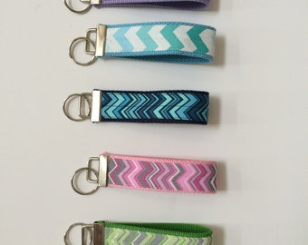 Chevron Key fob wristlets in variety of colors