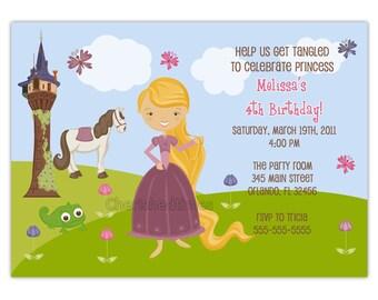 Princess Rapunzel Birthday Party Invitation (You Print)