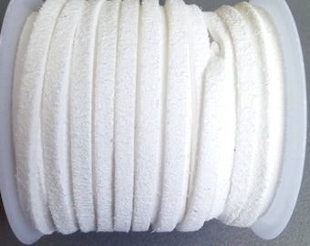 1 m white 3mm suede cord