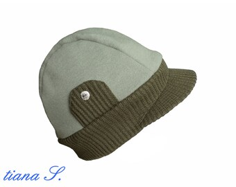 Cap sweat, olive, khaki, one size