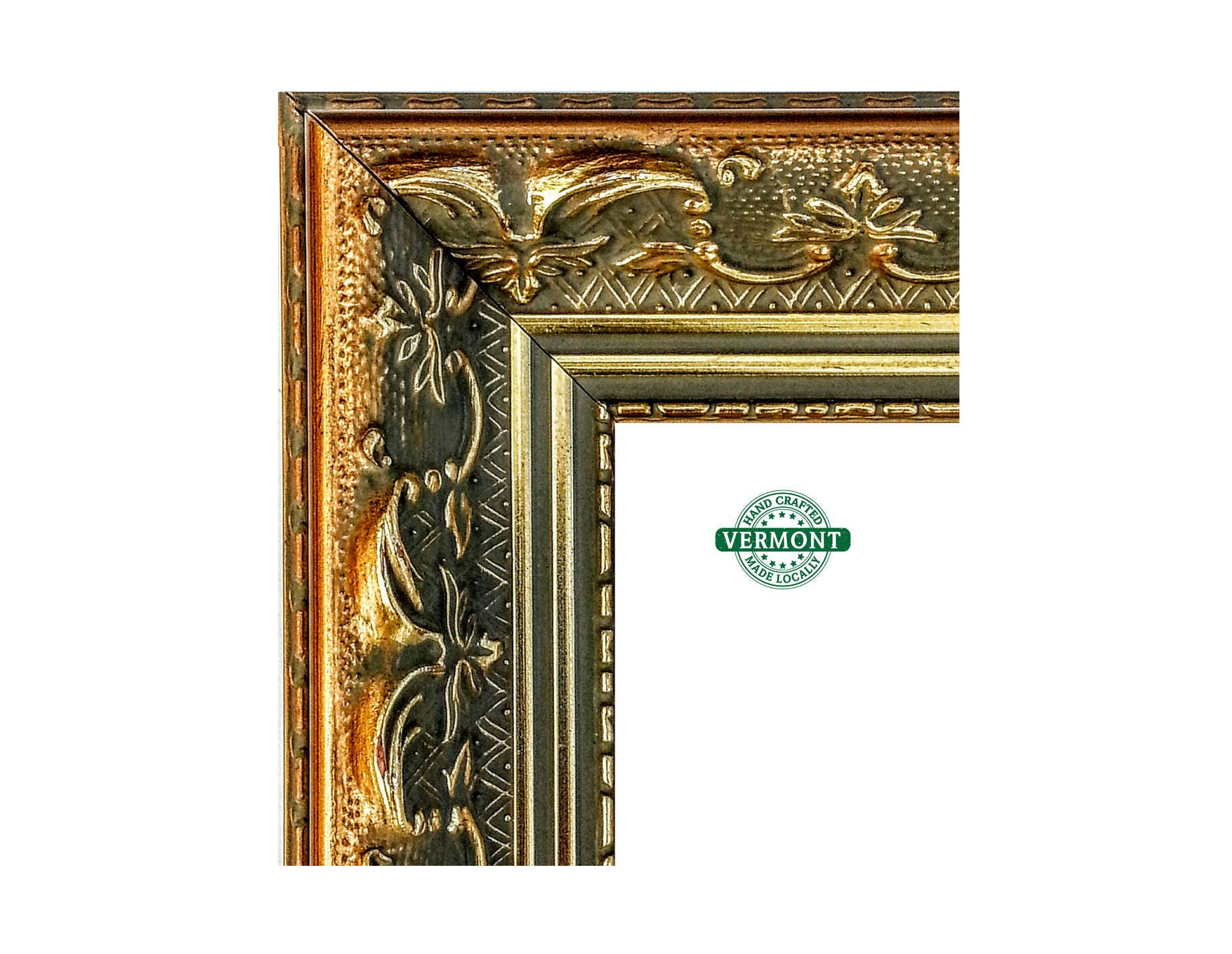 French Ornate Gold Picture Frame Antique Gold Finish Real