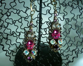 Romantic Alchemy earrings worked on both sides