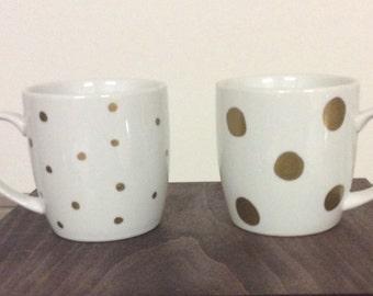 Big and small dots mug set