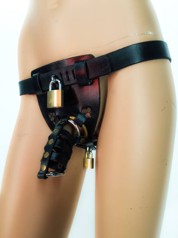 Kinky chastity belt bondage domination