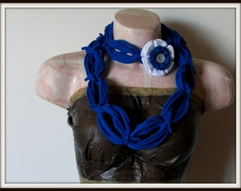 All Wrapped Up Blue Infinity Looped T shirt Jersey Scarf