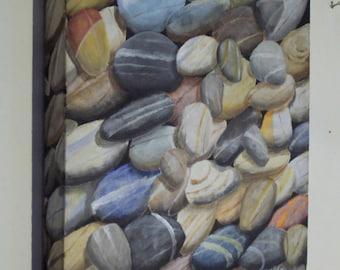 Pebbles at seashore 30x30