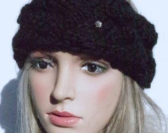 Black Alpaca Headband